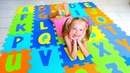 ABC Song and Learn English Alphabet with Polina Video for kids