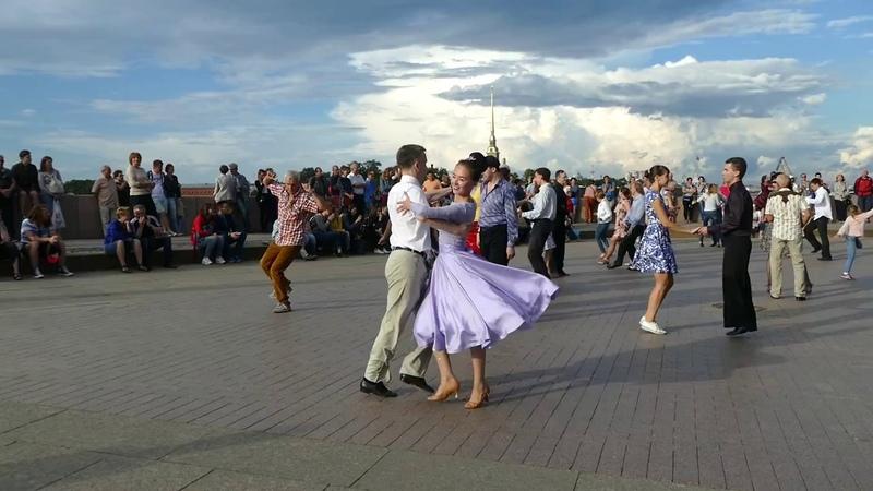 Джайв Бальные танцы 5 августа 2018 года на Стрелке В О