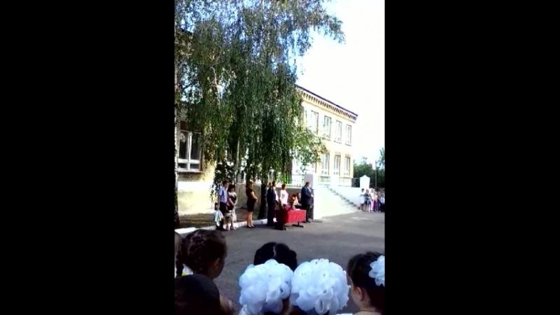 поздравление с началом учебного года в ОШ 42 и ОШ 15 Никитовка- Зайцево