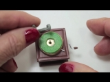 DIY - How to make a Miniature Gramophone - Polymer clay tutorial