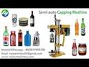 Semi automatic electric type capping machine ROPP aluminium lid Glass bottle sealing MC