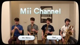 Mii Channel Music but it's played by a saxophone quartet