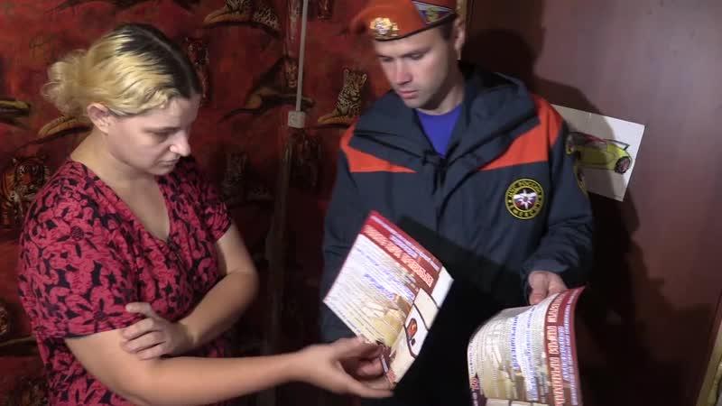Пожарные инспекторы проверяют печи в курганских домах