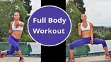 Julie Bognar - Full Body Workout: Bodyweight Exercises | Жиросжигающая интервальная тренировка без инвентаря (средний уровень)