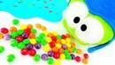 As Histórias do Om Nom de brinquedo. Om Nom e os doces.