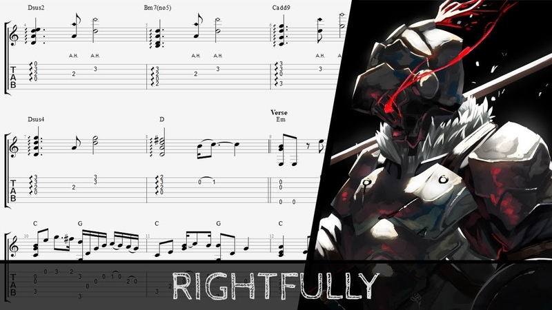 [TAB] 【Goblin Slayer OP】 Rightfully - Fingerstyle Guitar Cover