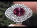 GIA Purplish Red Natural Ruby Diamond Cocktail Ring 18k White Gold 7.17 TCW - C924