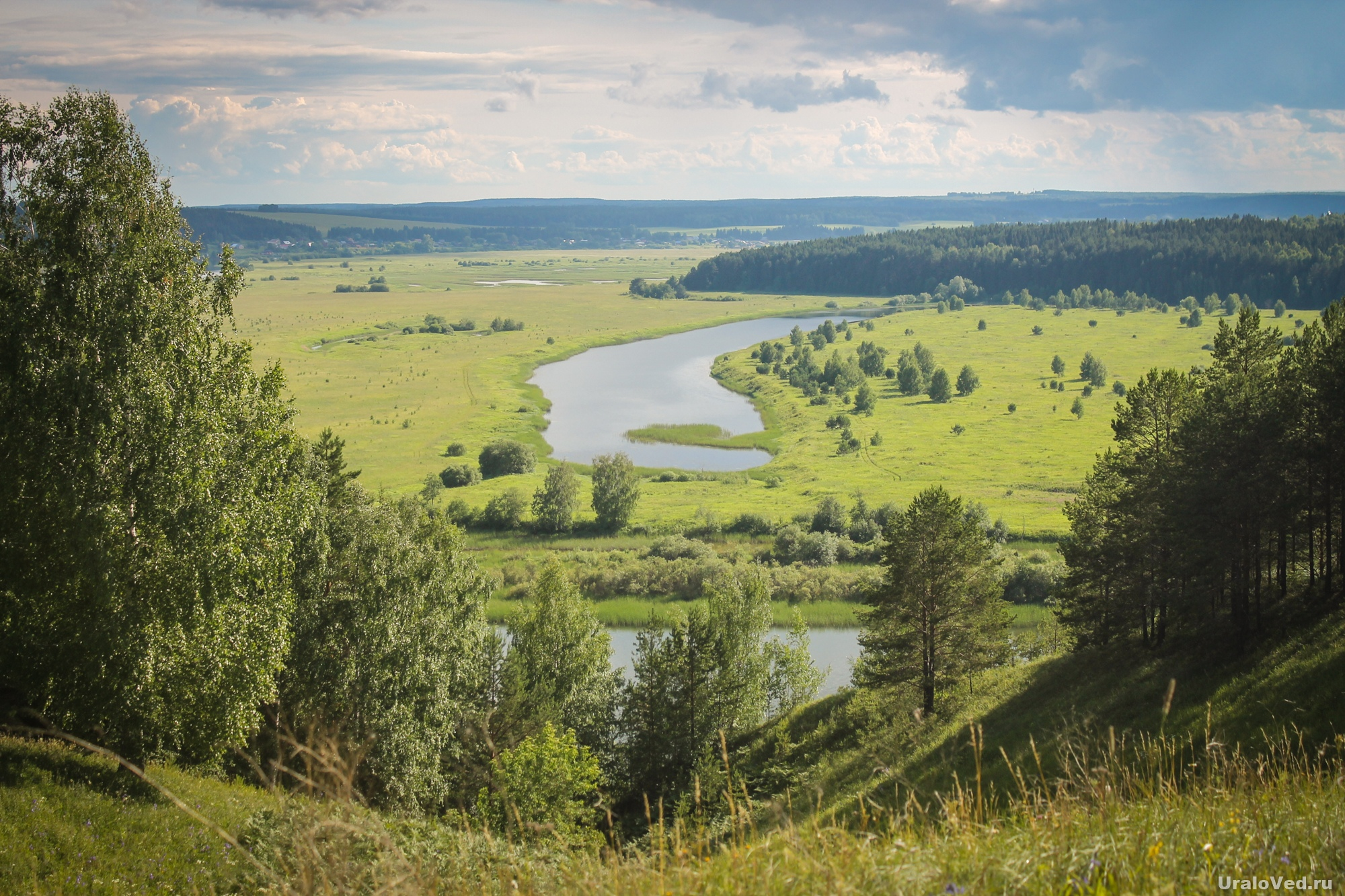 Вид на Сылву около села Зуята