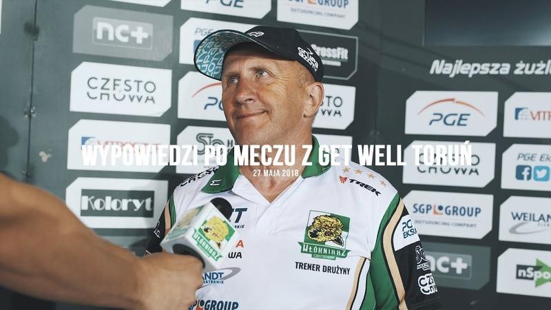 Włókniarz.tv: Fredrik Lindgren i Marek Cieślak po meczu z Get Well Toruń (napisy)