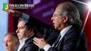 Paulo Guedes debate com Rodrigo Maia a Nova Previdência e outros assuntos importantes para o Brasil