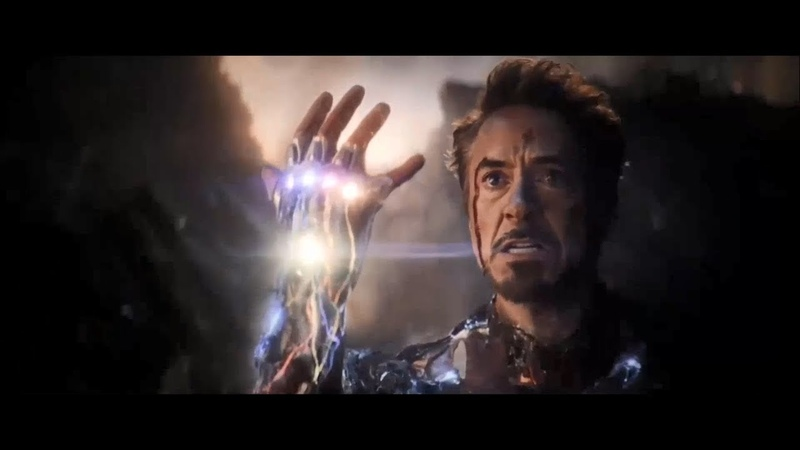 Avengers Endgame 2019 - Tony Stark obtain the Infinity Stones from the gauntlet