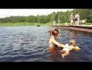 Анна П. Первый урок плавания.