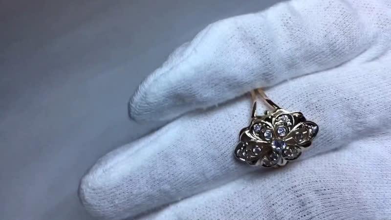 Золотое кольцо ручная работа