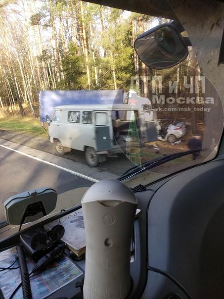 А 107 ,134 км. Перед Егорьевским шоссе.