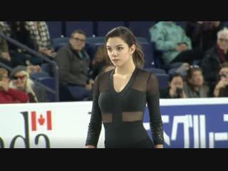 Evgenia MEDVEDEVA. 2018 Skate Canada - Practices