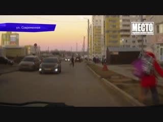 Видеорегистратор: ДТП кроссовер и седан на ул. Ленина. 03.12.2018
