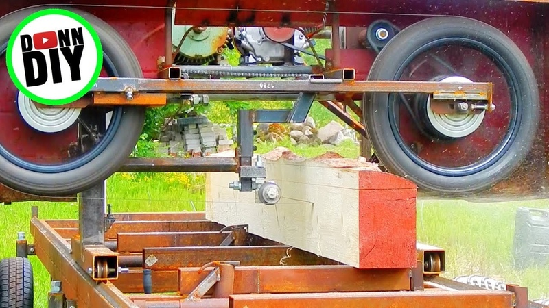 Saw Milling Spruce On Homemade Sawmill