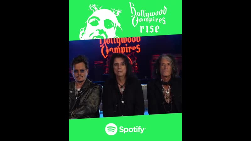 Hollywoodvampires @spotify is cool-ify HollywoodVampires.lnk.to/Rise