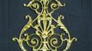 декорирование резной детали суперпоталью в виде золотой ваты