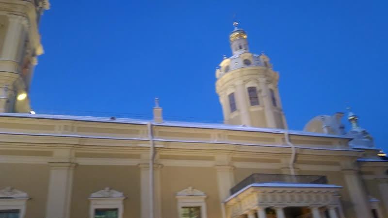 Мороз трещит в Петропавловке