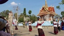 Garlands from roasted rice seeds Buddhist beliefs in Yasothon Thailand - Free Video Footages
