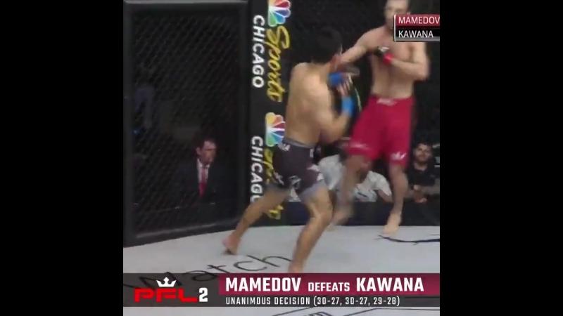 PFL2 results: Islam Mamedov def. Yuki Kawana via unanimous decision (30-27, 30-27, 29-28)