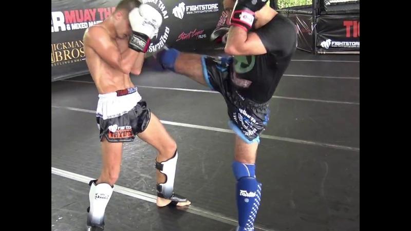 Eduard Mikhovich Ramil Novruzov drilling kickboxing combos