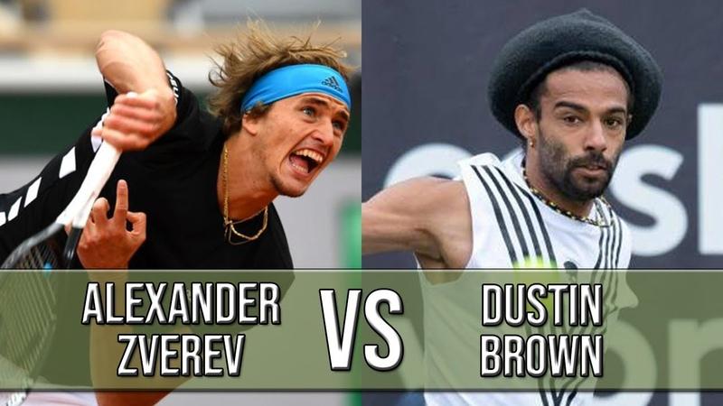 Alexander Zverev vs Dustin Brown - R2 2019 (Highlights HD)