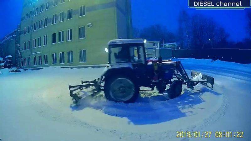 СНЕГОПАД В СТОЛИЦЕ ДРИФТ НА тракторе МТЗ 82 DRIFT MTZ 82