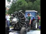 Запуск 30ти литрового радиального двигателя