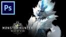 Kirin - Monster Hunter World   Photoshop Painting