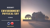 Quick demonstration of using environment and physical sky in redshift alpha CINEMA 4D