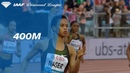 Salwa Eid Naser 49.77 Wins Women's 400m - IAAF Diamond League Lausanne 2018