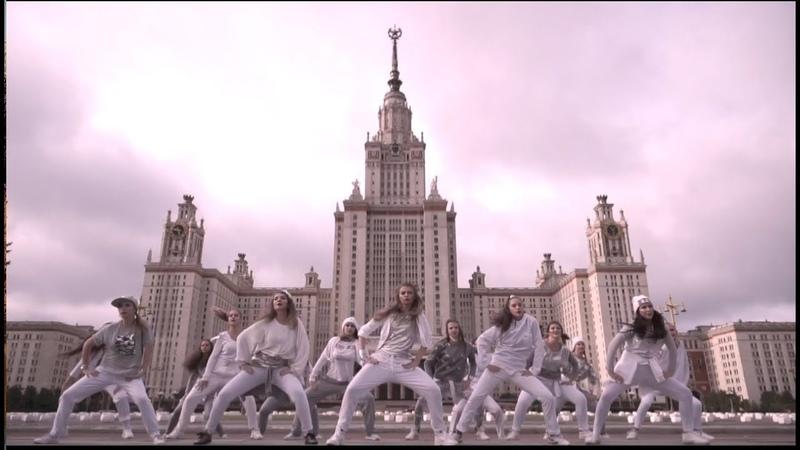 Хипхоп на фоне Главного здания МГУ. Танцевальный клип коллектива Силуэт МГУ