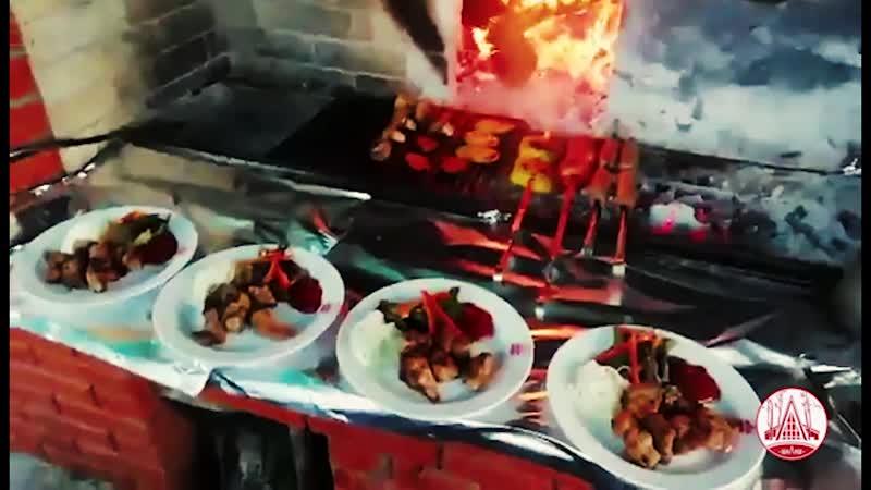 Мангал в ресторане Шалаш