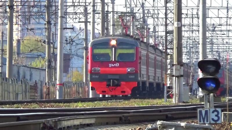 Электропоезд ЭД4М-0303 сообщением Москва Курская - Петушки