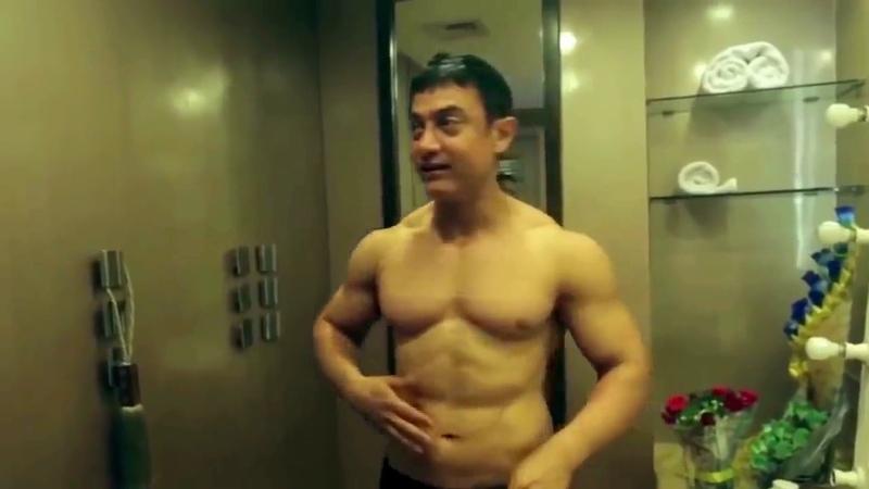 Aamir Khan в 51 год Для того чтобы сыграть Махавира в 60-летнем возрасте Аамир Кхан набрал 30 кг
