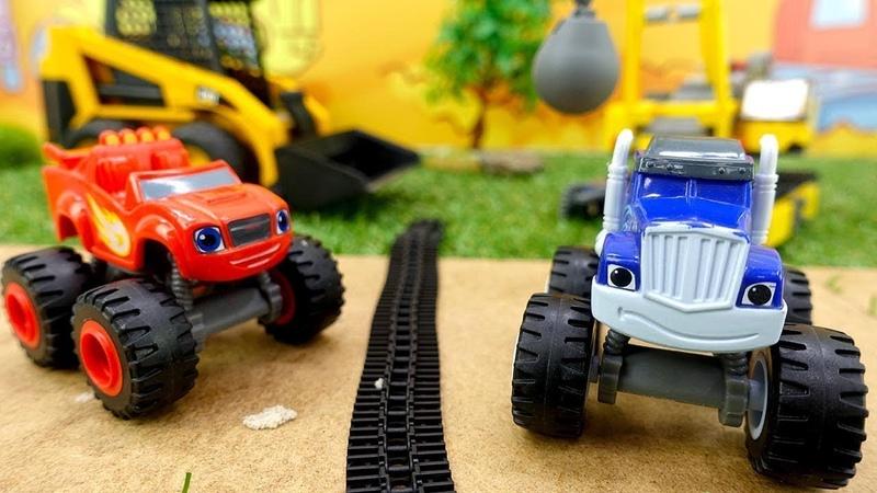 Araba oyunları. Blaze ve Crusher trafik canavarını yakalıyorlar.
