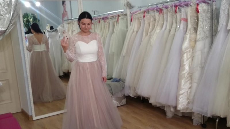 Лавандовое свадебное платье Прованс