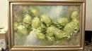 Хризантемы за 2 часа. How to paint chrysanthemum for 2 hours. Живопись маслом. Как рисовать цветы