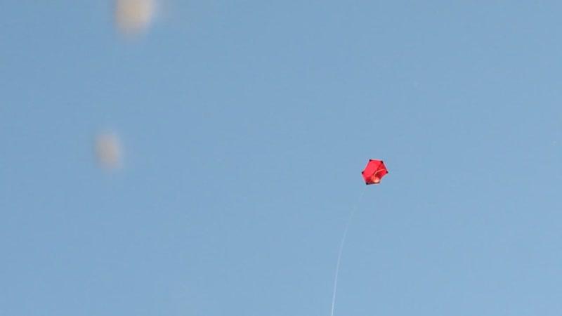 Запуск воздушного змея Роккаку сделаного своими руками