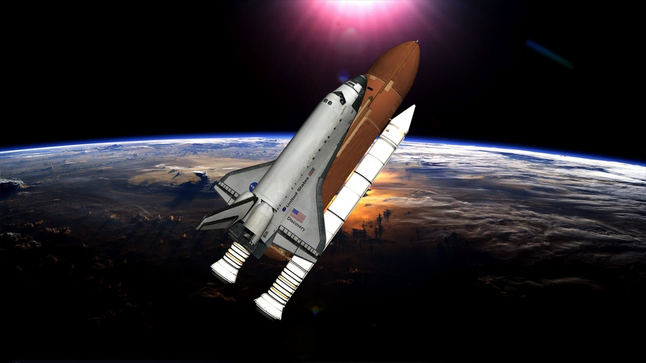 space shuttle discovery - 1280×720