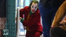 NEW VIDEO - Joaquin Phoenix Films Chase Scene for 'Joker' - Dashes on to Brooklyn Subway