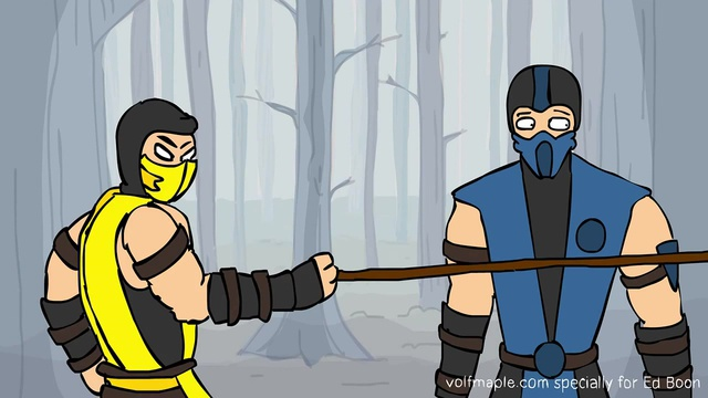 Specially for Ed Boon. Color version of Mortal Kombat - Brotality (animation VolF Maple)