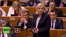 Belgium Le Pen lauds Brexit as 'cry of love' to a 'het up' Euro Parliament