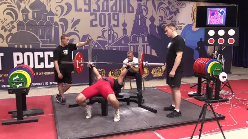 Суший Илья народный жим 82,5 кг на 60 повторений