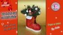 Bota de Santa Claus con botella plástica