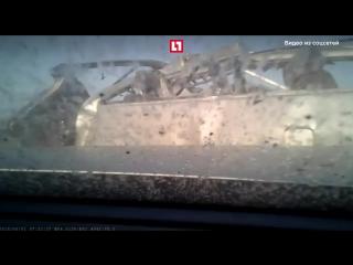 Момент смертельного ДТП в Самарской области
