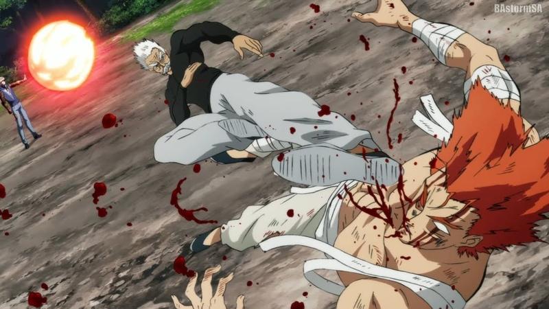 Гароу против Геноса Garou vs Genos One Punch Man 2