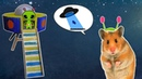 DIY Hamster toy UFO - Spaceship for hamster. Popicle stick craft